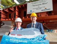 Norwegian cruise Line Stahlschnitt Norwegian Bliss Meyer Werft Papenburg