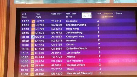 Flughafen Frankfurt nach Singapur A380