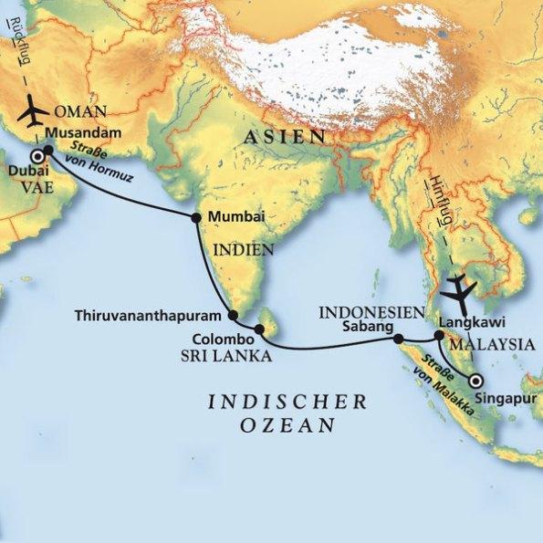 artania kreuzfahrt von singapur nach dubai