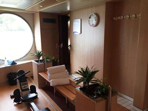 reisebericht donau flussreise nicko cruises MS Maxima Wellnessbereich