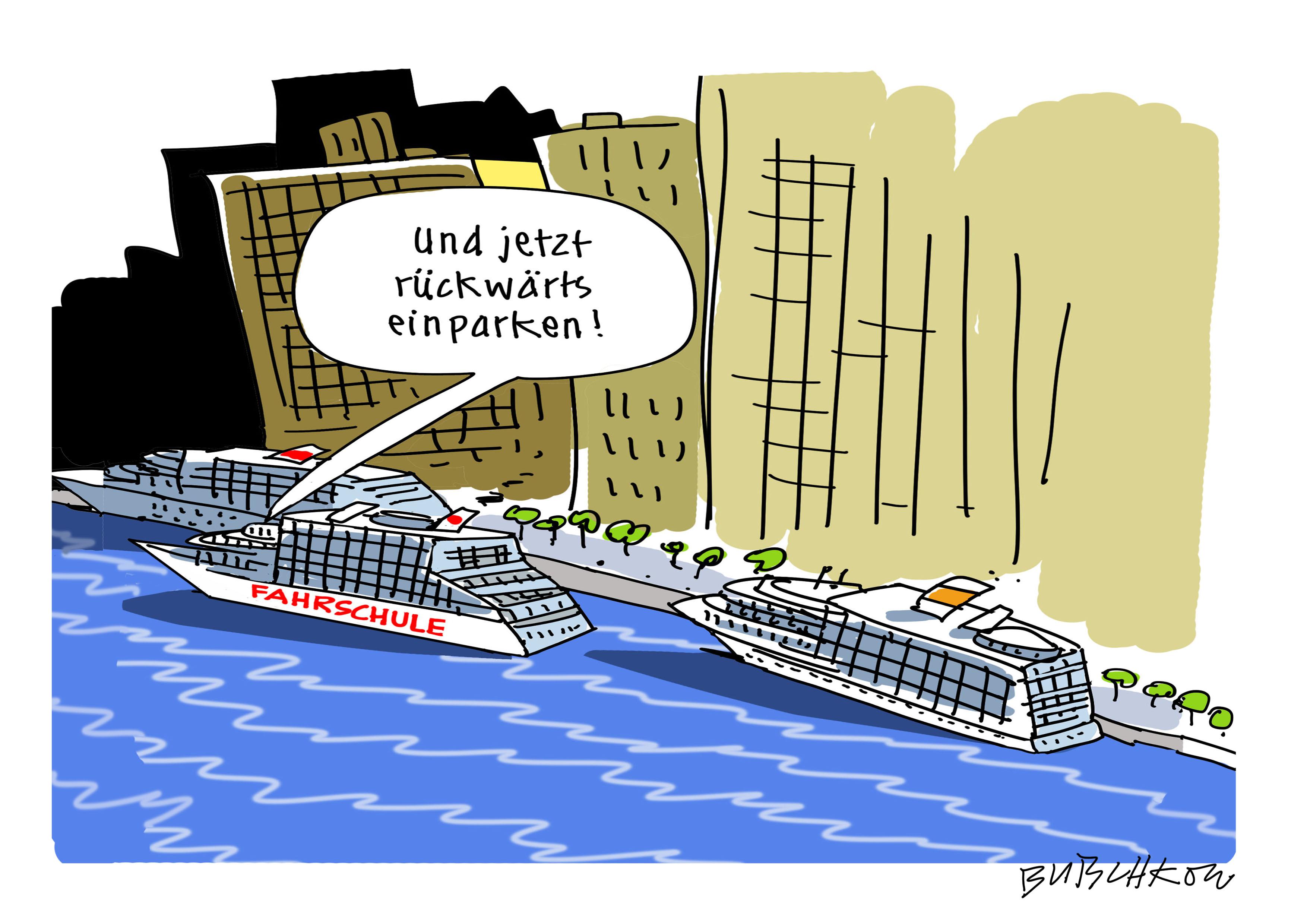 Peter Butschkow – Cartoonist – Überleben auf Kreuzfahrt!