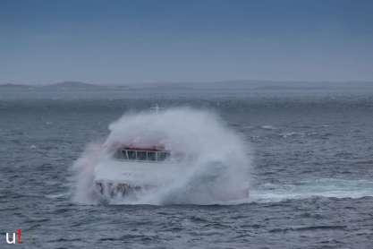 Die bärbeißige See des Nordmeeres.
