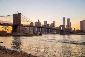 Brooklyn Bridge with New York
