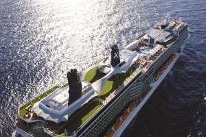 Celebrity Solstice - Aerial at Sea Miami Shoreline