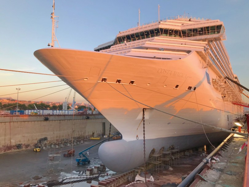 Costa Magica wird modernisiert_ Werftaufenthalt_Marseille