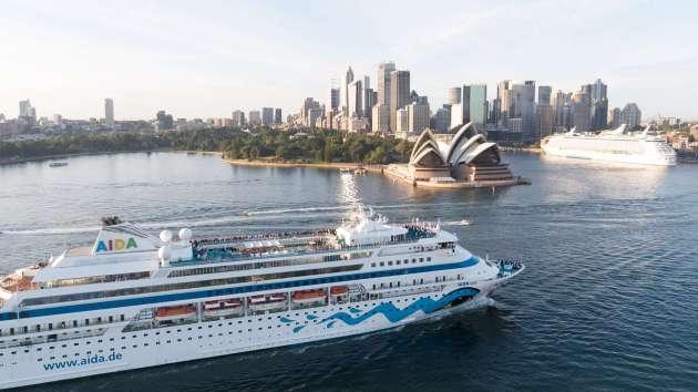 AIDAcara_Erstanlauf_Sydney
