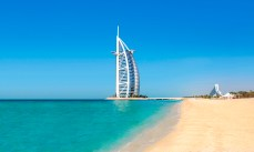 United Arab Emirates, Dubai - Burj al Arab and Jumeirah Beach