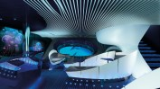 PONANT - Dem Meer ganz nah in der Underwater Lounge Blue Eye (c) Studio Ponant - Stirling Design International