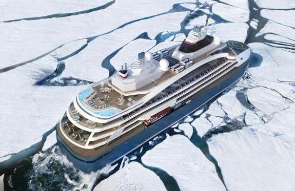 PONANT Le Commandant Charcot unterwegs im Eis © Ponant - Stirling Design...