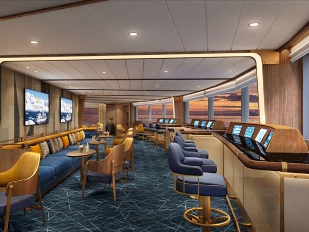 , Seabourn enthüllt Details zur Bow Lounge auf  der neuen Seabourn Venture