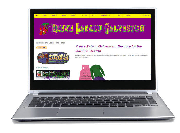 Krewe Babalu gets a facelift Krewe Babalu Website Help Section
