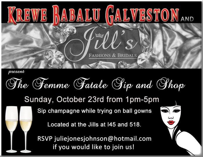 Femme Fatale Sip and Shop event