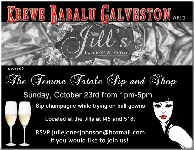 Femme Fatale Sip and Shop event
