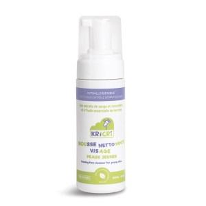 Mousse nettoyante visage peaux jeunes 150 ml