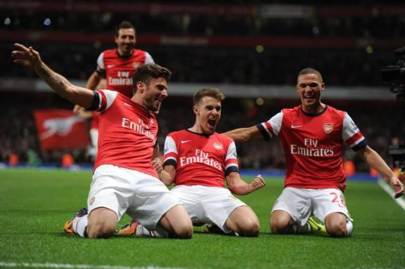 Arsenal leading table