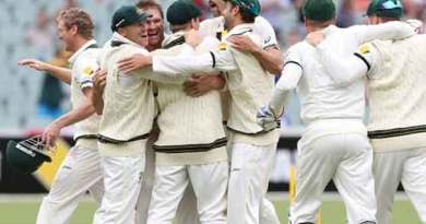 Australian team ashes celebration