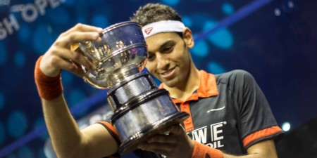 Win British Open Squash Titles