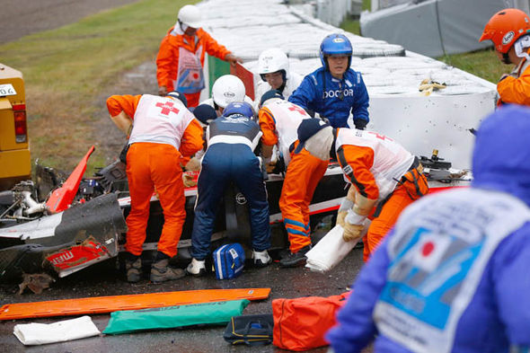F1 Driver accident
