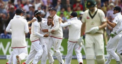 First Ashes Test victory team england