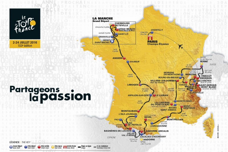 Mountain stages feature prominently as 2016 Tour de France route is announced