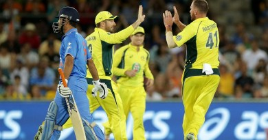 indian cricket news dhoni out