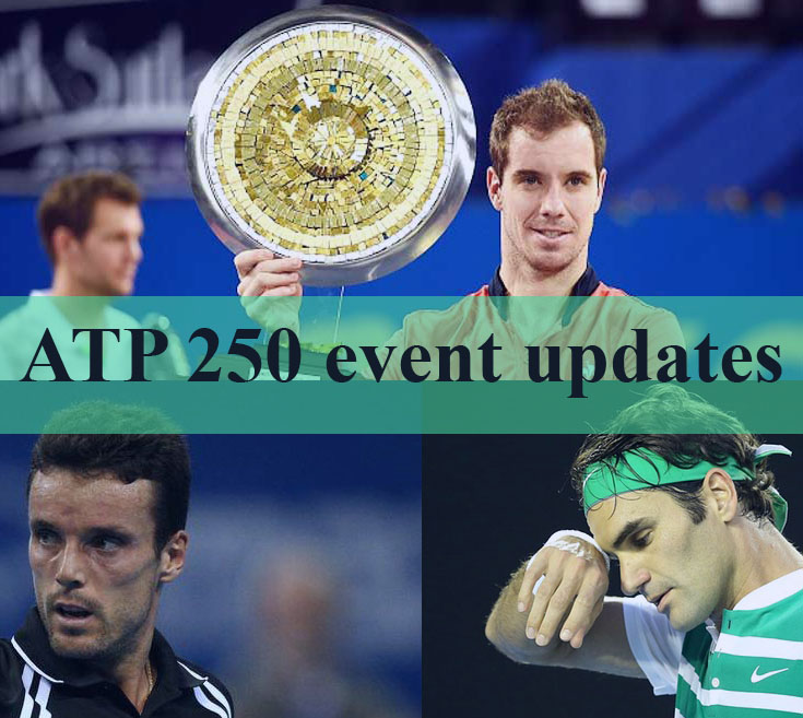 Estrella Burgo Retains Quito Gasquet Wins Montpellier & Bautista Agut Takes Sofia Roger Federer to Miss Rotterdam and Dubai Opens due to Knee Surgery
