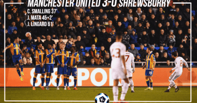 Manchester Win the first leg of FA cup against Shrewsburry