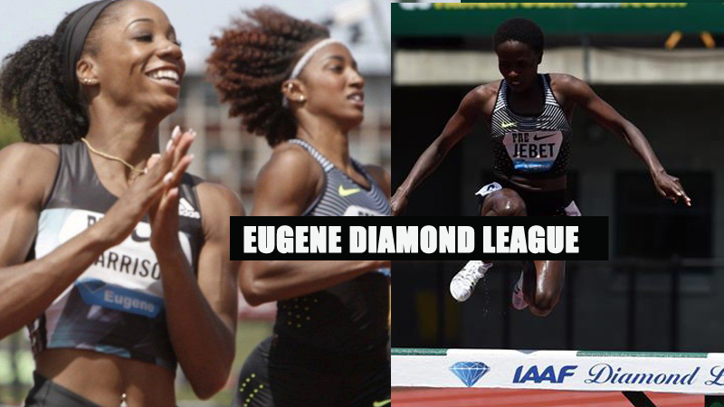 Ruth Jebet Hyvin Kiyeng and Keni Harrison Threaten World Records at Eugene Diamond League