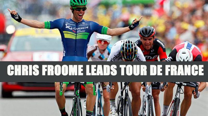 Chris Froome Leads Tour de France copy