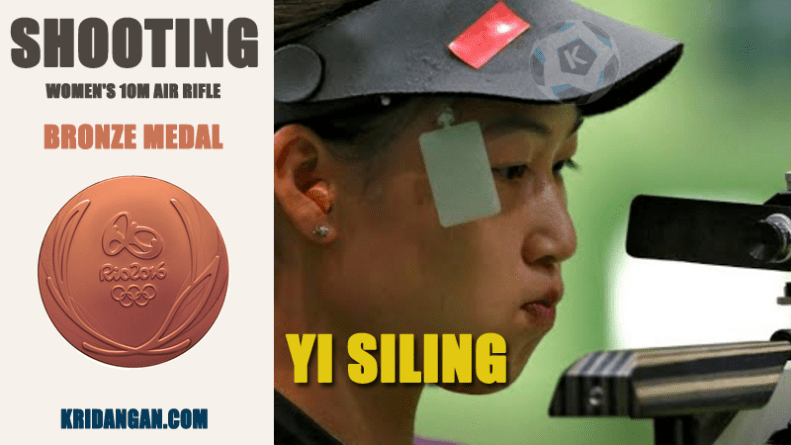 YI SILING won Bronze medal Women's 10m Air Rifle Medalist