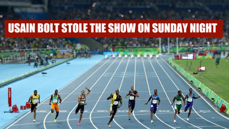 Usain Bolt stole the show on Sunday night