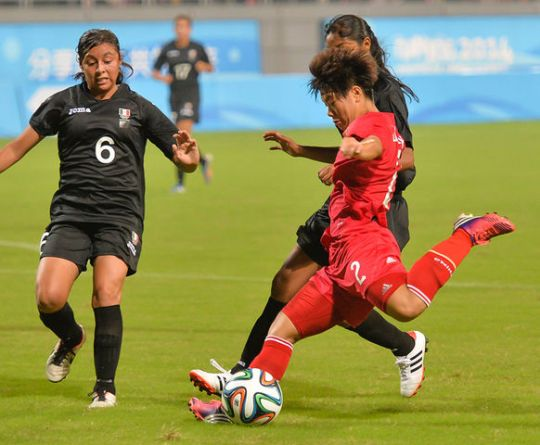 Women Kick Football in 2016 Olympics 2 Days