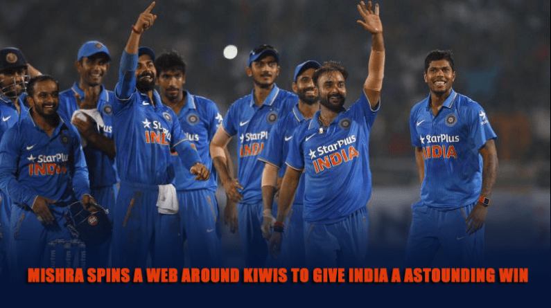 Mishra spins a web around Kiwis to give India a astounding win