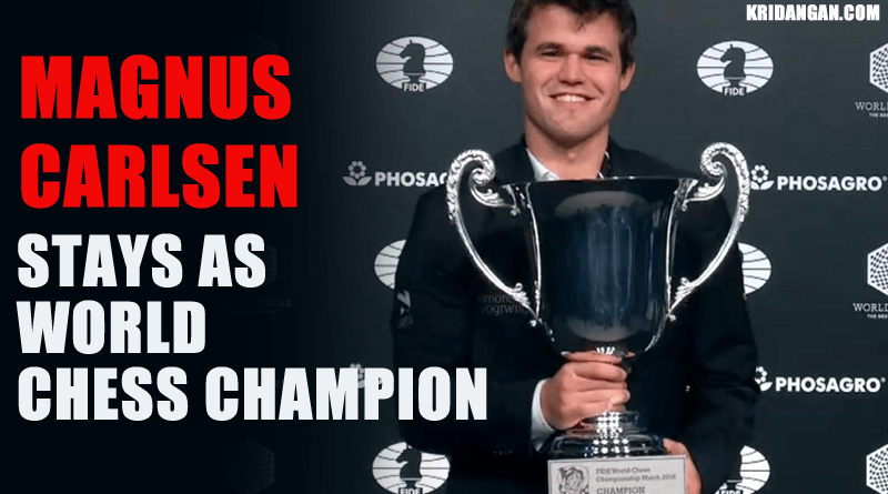 Carlsen Stays as World Chess Champion with Emphatic Victory