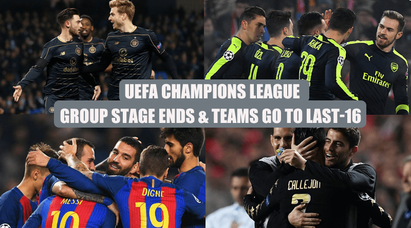 UEFA Champions League Group Stage Ends & Teams Go To Last-16