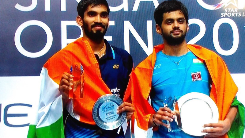 B Sai Praneeth outshines compatriot K. Srikanth to win men's singles title at Singapore Open 2017
