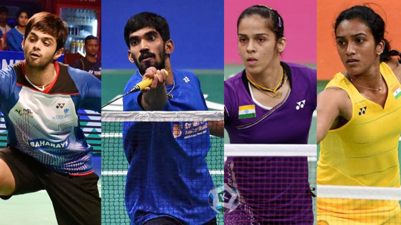 Indian shuttlers at the Australian Open
