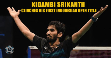 KIDAMBI SRIKANTH CLINCHES HIS FIRST INDONESIAN OPEN TITLE