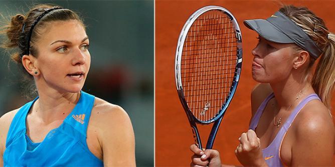 Sharapova vs halep US open 2017