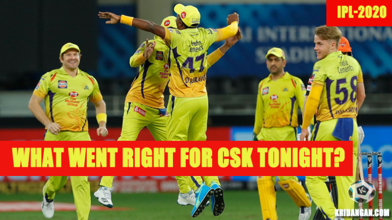 What went right for CSK tonight