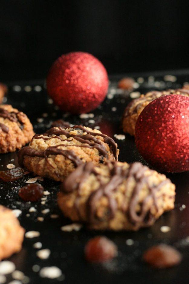 Haferflocken Rosinen Plätzchen Weihnachtsplätzchen Oatmeal Cookies Raisins krimiundkeks