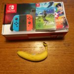 Nintendo Switch - Banana for scale