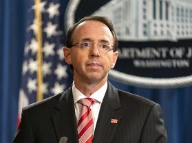 Deputy US Attorney General Rod Rosenstein summoned to the White House
