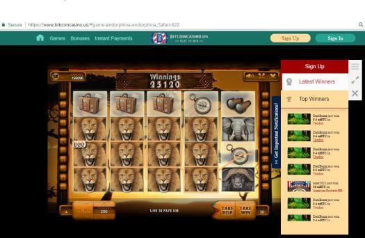 Удачливый игрок выиграл 39 биткоинов на BitcoinCasino.us