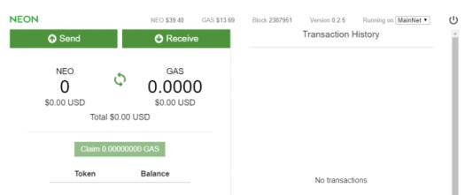 Як створити гаманець NEO