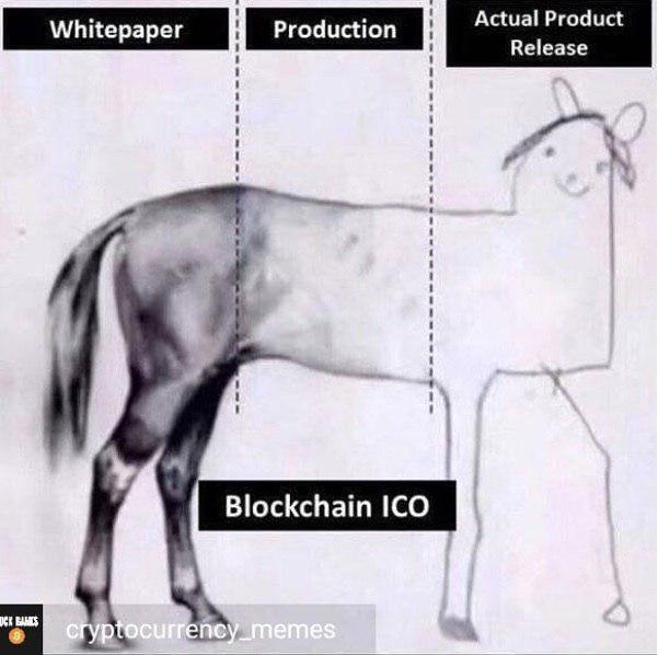Крипто-юмор: 3 этапа ICO