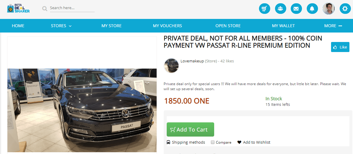 DealShaker: VW Passat R-line Premium, 1850.00 ONE