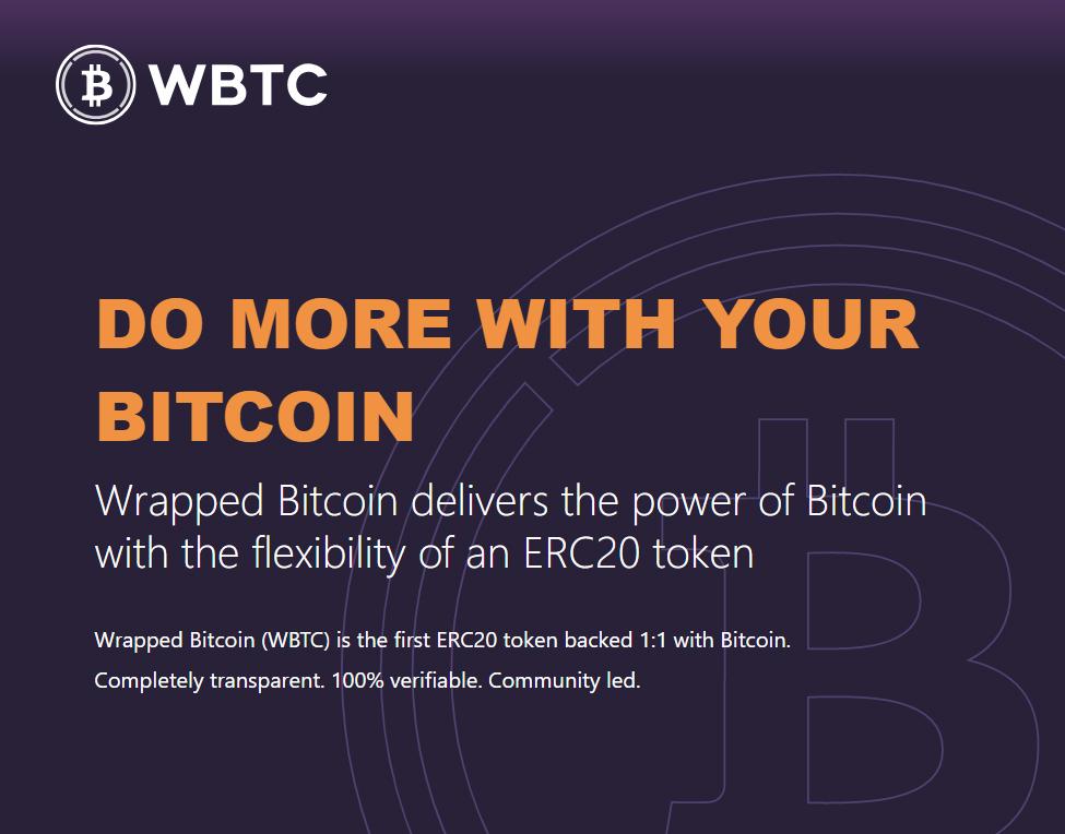 На блокчейне Ethereum запущен стейблкоин WBTC, обеспеченный биткоином