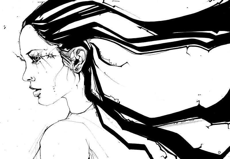 Long Hair - Marker Art
