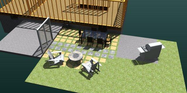 3D CAD, DIY, graphic design, Patio, Rendering, SketchUp, Lighting,